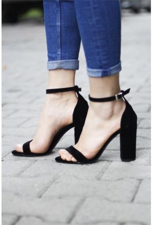 İnce Topuk Bilekten Bağlamalı Topuklu Ayakkabı 7YAZA0112416