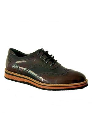 Mammamia 7190 Deri Erkek Ayakkabı Bordo