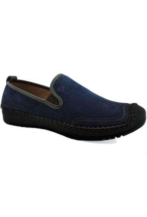 Mammamia D16Ya-7160 Ortopedik Tabanlı Deri Ayakkabı Lacivert