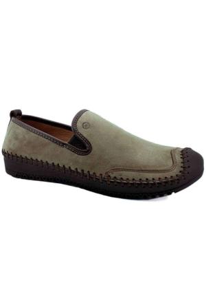 Mammamia D16Ya-7160 Ortopedik Tabanlı Deri Ayakkabı Kum