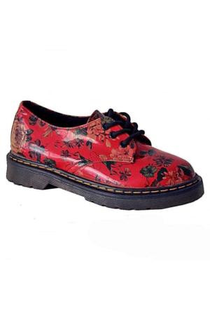 Ottimo 4001 Oxford Kadın Ayakkabı Kırmızı