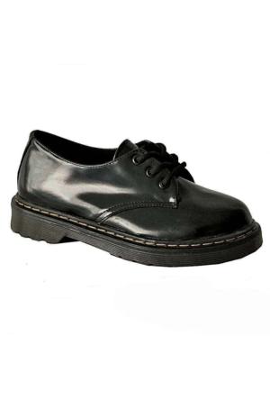 Ottimo 4001 Oxford Kadın Ayakkabı Siyah Rugan