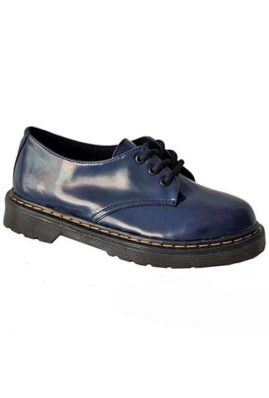 Ottimo 4001 Oxford Kadın Ayakkabı Koyu Mavi