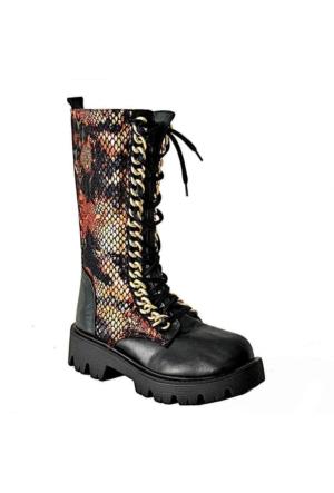Ottimo 2045 Deri Kadın Çizme Siyah