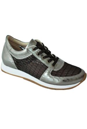 Ottimo 4041 Günlük Kadın Ayakkabı Gümüş