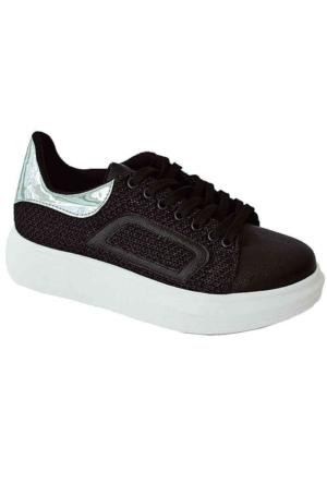 Ottimo 4046 Kalın Taban Zırhlı Kadın Ayakkabı Siyah