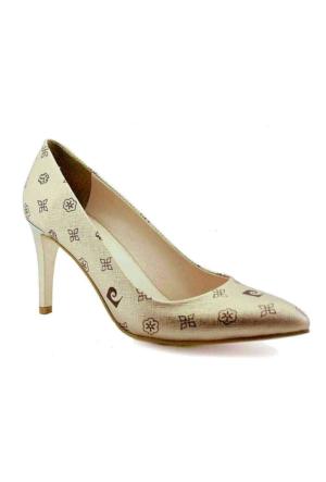 Pierre Cardin 45344 Topuklu Sivri Burun Kadın Ayakkabı Somon