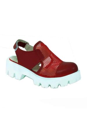 Shakrak 1160 Fileli Kadın Ayakkabı Kırmızı
