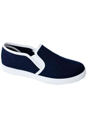 Ottimo 0217 Keten Kadın Ayakkabı Lacivert