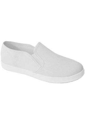 Ottimo 0217 Keten Kadın Ayakkabı Beyaz
