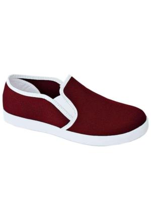 Ottimo 0217 Keten Kadın Ayakkabı Bordo