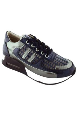 Ottimo 4043 Kalın Taban Günlük Kadın Ayakkabı Lacivert