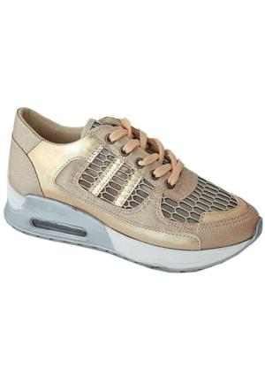 Ottimo 4043 Kalın Taban Günlük Kadın Ayakkabı Somon