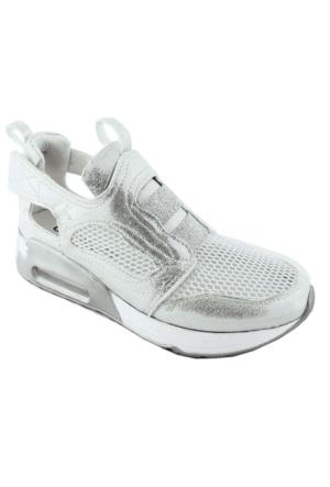 Ottimo 4044 Fileli Kadın Ayakkabı Gümüş