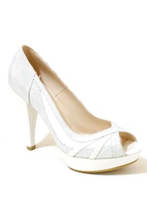 Ayakkabım Çantam 605 Topuklu Kadın Ayakkabı Sedef