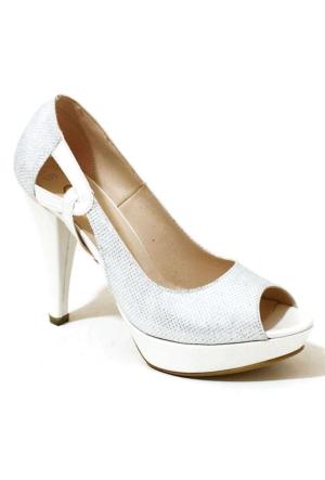 Ayakkabım Çantam 609 Topuklu Kadın Ayakkabı Sedef