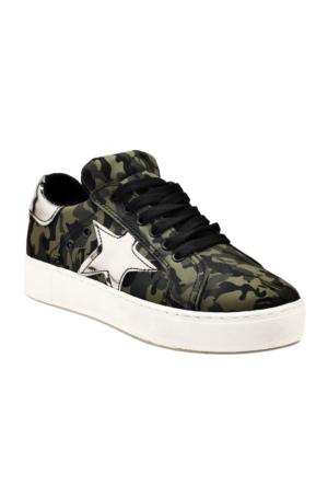 Ayakkabı - Yeşil Kamuflaj - Zenneshoes