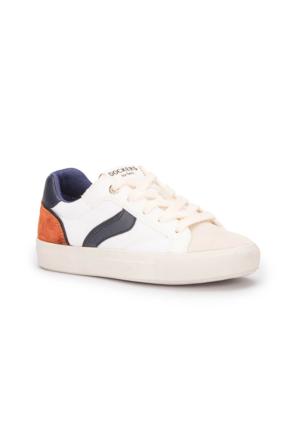 Dockers 222255 Beyaz Lacivert Turuncu Erkek Çocuk Ayakkabı