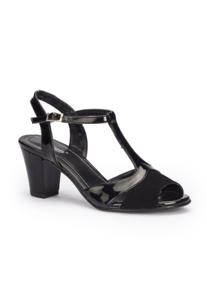 Polaris 71.309857.Z Siyah Kadın Sandalet