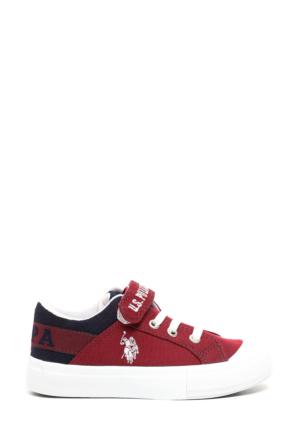 U.S. Polo Assn. Erkek Çocuk Y7Arnel Ayakkabı Kırmızı