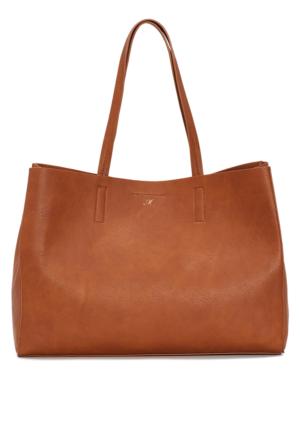 Mavi Kadın Kahverengi Shopper Çanta