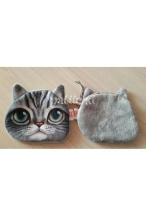 Patiland 3D Kedi Desenli Bozuk Para Cüzdanı
