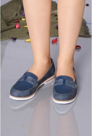 Oflaz Lacivert Kadın Ayakkabı-Y17112