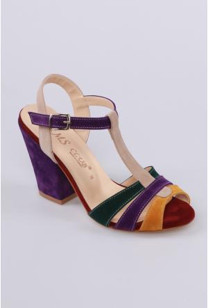 Sms Bordo Multi Kadın Ayakkabı-4277