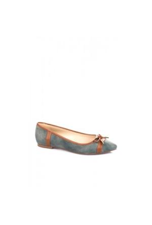 Elle Milena Bayan Ayakkabı - Mavi/Taba