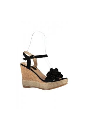 Elle Flor Bayan Ayakkabı - Siyah