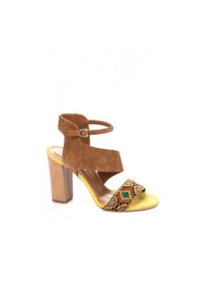 Elle Farah Bayan Ayakkabı - Taba-Sarı