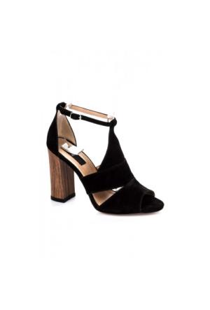 Elle Karen Bayan Ayakkabı - Siyah