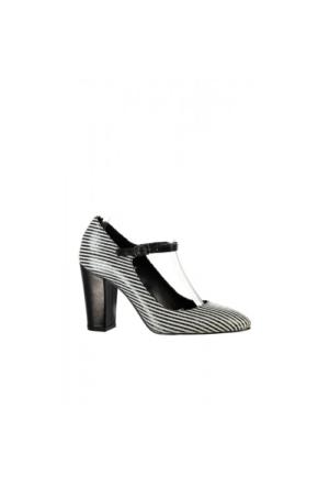 Elle Valere Bayan Ayakkabı - Siyah/Beyaz