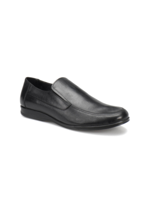 Flogart 507 M 1602 Siyah Erkek Deri Klasik Ayakkabı