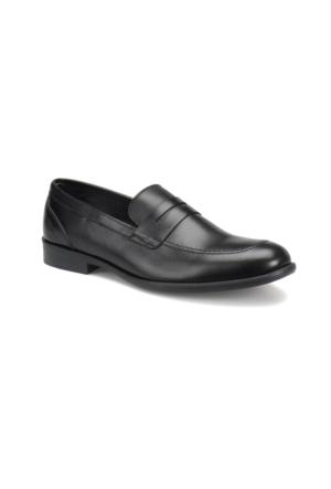 Garamond 4672 M 1602 Siyah Erkek Deri Klasik Ayakkabı