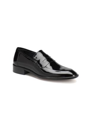 Garamond 712 M 1602 Siyah Erkek Deri Klasik Ayakkabı