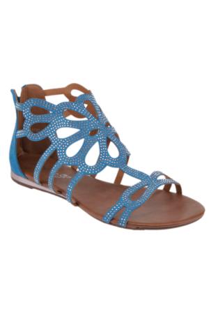 Miss F F16102 Mavi Kadın Sandalet