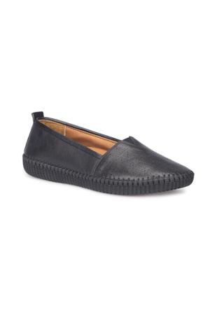 Polaris 5 Nokta 71.109671.Z Siyah Kadın Deri Ayakkabı