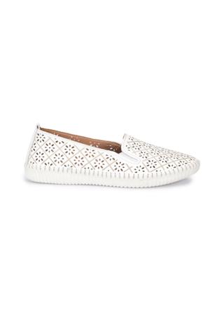 Polaris 5 Nokta 71.109672.Z Beyaz Kadın Deri Ayakkabı