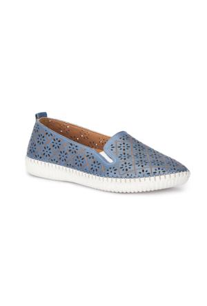 Polaris 5 Nokta 71.109672.Z Mavi Kadın Deri Ayakkabı
