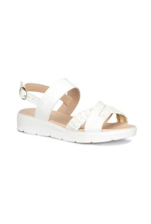 Polaris 71.157379.Z Beyaz Kadın Sandalet