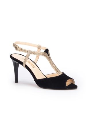 Polaris 71.309844.Z Siyah Kadın Sandalet