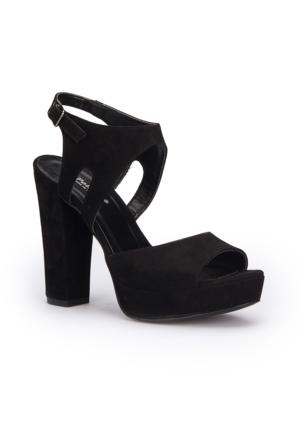 Polaris 71.309917.Z Siyah Kadın Sandalet