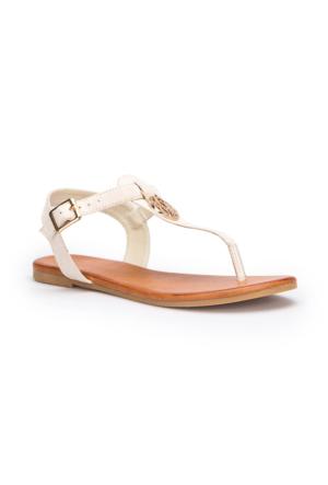 U.S. Polo Assn. Purnima Bej Kadın Sandalet