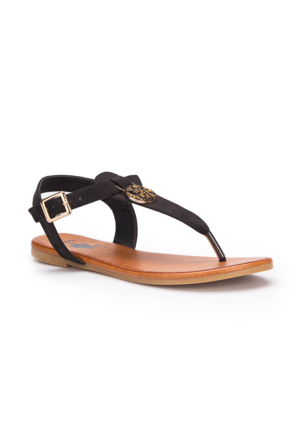 U.S. Polo Assn. Purnima Siyah Kadın Sandalet