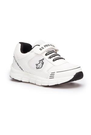 U.S. Polo Assn. Semr Beyaz Unisex Çocuk Sneaker Ayakkabı