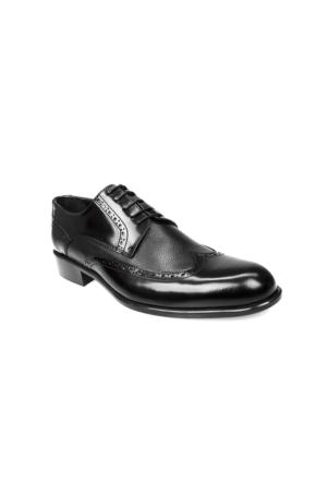 Ziya Erkek Hakiki Deri Ayakkabı 7150 7454 Siyah