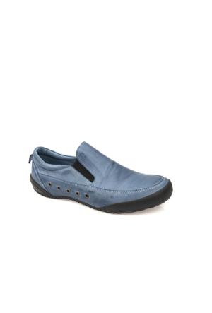 Uniquer Kadın Hakiki Deri Ayakkabı 7178U 03 Saks Mavi