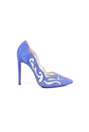 Veyisusta Süet File Desenli Bayan Ayakkabısı