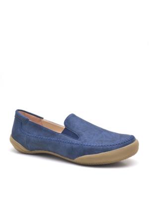 Baldano Ortopedik Büyük Numara Lacivert Kadın Günlük Ayakkabı